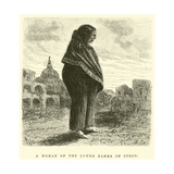 A Woman of the Lower Ranks of Cuzco Giclee Print by Édouard Riou