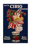 Poster Advertising Cirio Tomatoes, C.1920 Stampa giclée