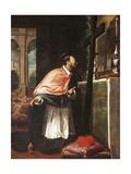 St Charles Borromeo Lámina giclée por Bernardo Strozzi