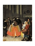 Talks Between Baute Masks Giclee Print by Pietro Longhi