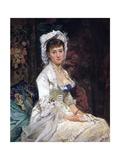 Woman in White, 1879 Giclee-trykk av Eva Gonzales