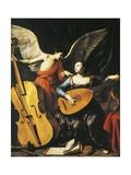 Saint Cecilia and Angel Giclée-tryk af Carlo Saraceni