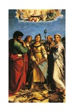 The Ecstasy of St Cecilia Lámina giclée por  Raphael