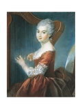 Portrait of Girl with Harp Giclée-Druck von Louis Vigee