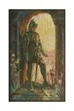 Lancelot at the Chapel Lámina giclée por Henry Justice Ford