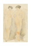'Deux Figures Debout' Giclee Print by Auguste Rodin