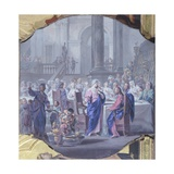 The Marriage of Cana Giclée-tryk af Vittorio Maria Bigari