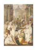 The Raising of Lazarus, 1538-40 Giclée-Druck von Perino Del Vaga