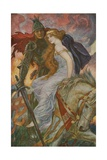 Lancelot Bears Off Guenevere Lámina giclée por Henry Justice Ford