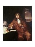 Antonie Van Leeuwenhoek, C.1680 Giclée-Druck von Jan Verkolje