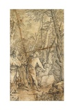 Diogenes Casting Away His Bowl Giclee Print by Salvator Rosa