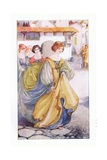 Griselda Was Entirely Reclothed Gicléetryck av Anne Anderson