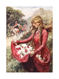 The Roses of St. Elisabeth Giclee Print by Arthur C. Michael