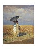 A Field of Wheat Giclée-tryk af Giuseppe De Nittis