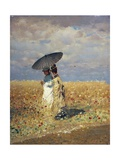 A Field of Wheat Giclee Print by Giuseppe De Nittis