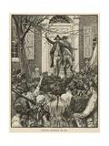 Hamilton Addressing the Mob Gicléedruk van Howard Pyle