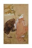 Kiss, 1881-1885 Giclee Print by Gaetano Previati