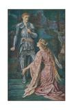 Guenevere and Sir Bors Lámina giclée por Henry Justice Ford