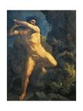 Hercules Killing Hydra of Lerna Impressão giclée por Guido Reni