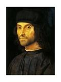 Portrait of Man with a Hat Giclée-tryk af Alvise Vivarini