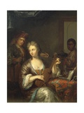 Musician Strumming Viola Giclee Print by Caspar Netscher
