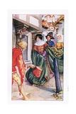 Aurelius Hastened to Dorigen Gicléetryck av Anne Anderson