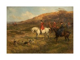 Hunting Scene, 1899 Giclée-tryk af Heywood Hardy