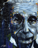 Albert Einstein Poster di Stephen Fishwick