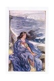 Once More She Was Adrift Gicléetryck av Anne Anderson