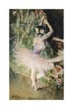 At Dance School, Circa 1880 Giclée-tryk af Giovanni Boldini