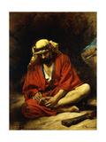 An Arab Plucking a Thorn from His Foot Giclée-vedos tekijänä Leon Joseph Florentin Bonnat