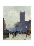Lower Fifth Avenue, 1890 Giclee Print by Childe Hassam