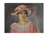 The Pink Hat Giclee Print by Henri Lebasque