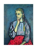 Portrait of a Young Girl Giclee-trykk av Alexej Von Jawlensky