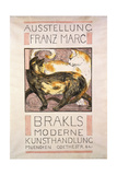 Two Cats, 1909-10 Giclee Print by Franz Marc