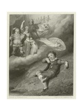 The Dreams of the Youthful Shakespeare Giclee Print by Richard Westall