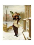 Delivery Boy, 1863 Gicléedruk van John George Brown