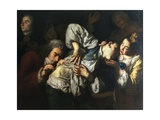 The Wounded Man, 1752 Giclée-tryk af Gaspare Traversi