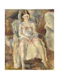 Young Girl Sitting Giclee Print by Jules Pascin