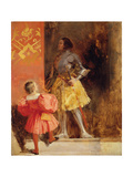 A Knight and Page, C.1826 Giclee Print by Richard Parkes Bonington