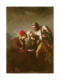 The Oyster and the Litigants Giclee Print by Auguste Theodule Ribot