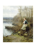 A Lovely Thought Giclee Print by Daniel Ridgway Knight