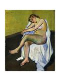 Seated Nude; Nu Assis, 1916 Giclée-Druck von Suzanne Valadon