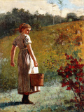 Returning from the Sping, 1874 Giclee Print by Winslow Homer