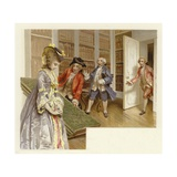 Illustration for the School for Scandal Giclee Print by Lucius Rossi