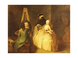 The Painter's Studio Giclee Print by Pietro Longhi
