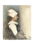 A Breton Girl Giclee Print by Pascal Adolphe Jean Dagnan-Bouveret