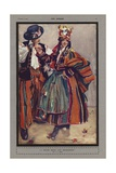 A Polish Bride and Bridegroom Giclee-trykk av Isobel Lilian Gloag