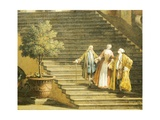 Concert at the Villa Giclée-Druck von Antonio Visentini