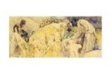 Adoration of Magi, 1850 Giclee Print by Gaetano Previati